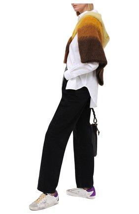 Женские кожаные кеды superstar GOLDEN GOOSE DELUXE BRAND белого цвета, арт. GWF00102.F000251 | Фото 2
