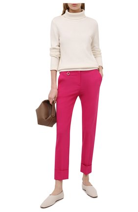 Женские шерстяные брюки LORENA ANTONIAZZI фуксия цвета, арт. P2108PA038/3180 | Фото 2