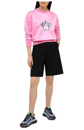 Женские текстильные кроссовки trigreca VERSACE сиреневого цвета, арт. DST539G/D17TCG | Фото 2