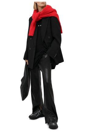 Женские текстильные кроссовки trigreca VERSACE черного цвета, арт. DST539G/D18TCG | Фото 2 (Материал внешний: Текстиль; Подошва: Платформа; Материал внутренний: Текстиль)