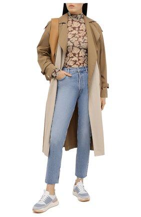 Женские кожаные кроссовки SANTONI голубого цвета, арт. WBI060772BTTXF0EG41 | Фото 2
