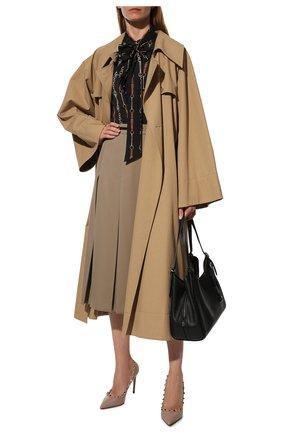 Женские кожаные туфли valentino garavani rockstud VALENTINO бежевого цвета, арт. VW2S0057/VCE | Фото 2