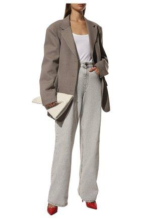 Женские кожаные туфли valentino garavani rockstud VALENTINO красного цвета, арт. VW2S0A04/VCE | Фото 2