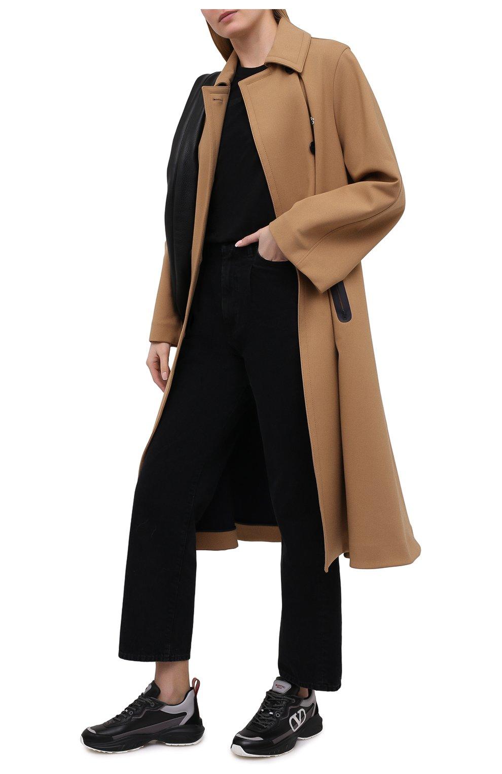 Женские кожаные кроссовки valentino garavani shegoes VALENTINO черного цвета, арт. VW2S0AB1/KCX | Фото 2