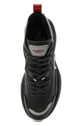 Женские кожаные кроссовки valentino garavani shegoes VALENTINO черного цвета, арт. VW2S0AB1/KCX | Фото 5