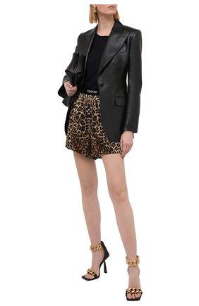 Женские шелковые шорты TOM FORD леопардового цвета, арт. SH0018-FAP150 | Фото 2