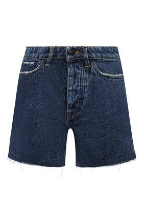 Женские джинсовые шорты 3X1 синего цвета, арт. WS0100866/RIVER BLUE | Фото 1