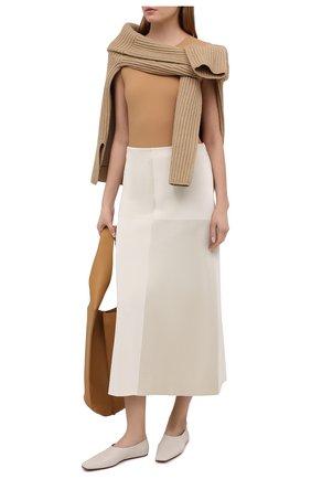 Женское боди JIL SANDER бежевого цвета, арт. JSPS705041-WS477108 | Фото 2