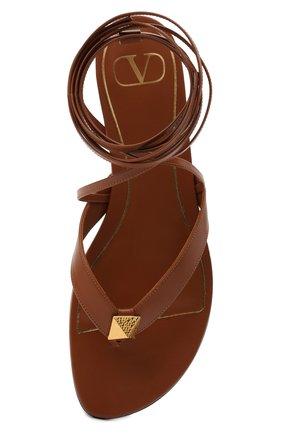 Женские кожаные сандалии valentino garavani upstud VALENTINO коричневого цвета, арт. VW2S0BJ7/GNF | Фото 5