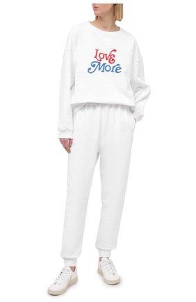 Женский хлопковый свитшот PHILOSOPHY DI LORENZO SERAFINI белого цвета, арт. J1706/747 | Фото 2