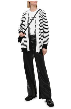 Женский кардиган PHILOSOPHY DI LORENZO SERAFINI черно-белого цвета, арт. A0904/703 | Фото 2