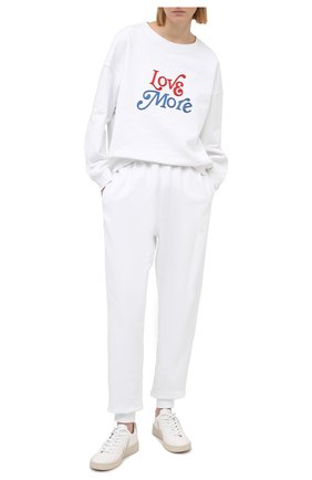 Женские хлопковые джоггеры PHILOSOPHY DI LORENZO SERAFINI белого цвета, арт. A0327/747 | Фото 2