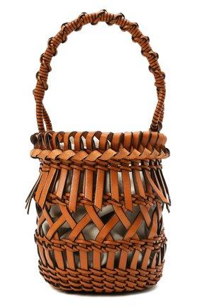 Женская сумка bucket fringes LOEWE коричневого цвета, арт. 326.05AC19 | Фото 1