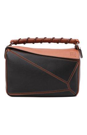 Женская сумка puzzle LOEWE черного цвета, арт. A510S21X07 | Фото 1
