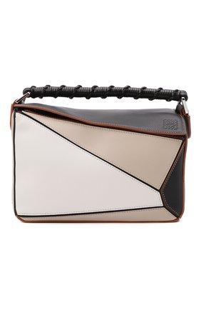 Женская сумка puzzle LOEWE бежевого цвета, арт. A510S21X15   Фото 1