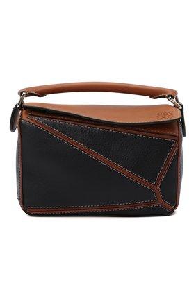 Женская сумка puzzle mini LOEWE черного цвета, арт. A510U95X14 | Фото 1