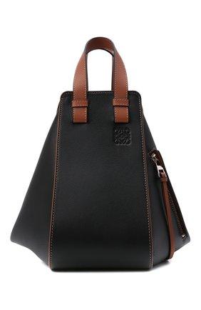 Женская сумка hammock small LOEWE черного цвета, арт. A538S35X04 | Фото 1 (Ремень/цепочка: На ремешке; Сумки-технические: Сумки top-handle, Сумки через плечо; Размер: small; Материал: Натуральная кожа)