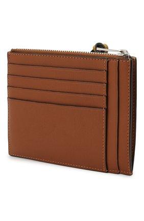 Женский кожаный футляр для кредитных карт LOEWE коричневого цвета, арт. C500037X01 | Фото 2