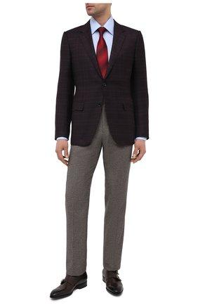 Мужские кожаные монки SANTONI темно-коричневого цвета, арт. MCCR17595JC6I0BRT53 | Фото 2 (Стили: Классический; Материал внутренний: Натуральная кожа)