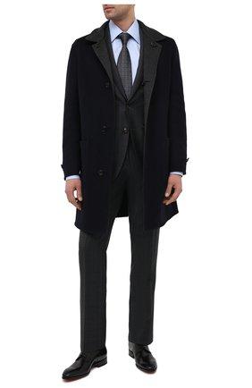 Мужские кожаные дерби SANTONI черного цвета, арт. MCCR17633JC6I0BRN01 | Фото 2