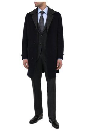Мужские кожаные оксфорды SANTONI черного цвета, арт. MGSI11011SM0IUSFN01 | Фото 2