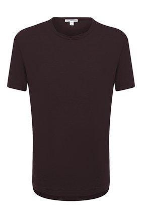 Мужская хлопковая футболка JAMES PERSE бордового цвета, арт. MKJ3360 | Фото 1