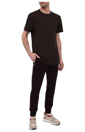 Мужская хлопковая футболка JAMES PERSE бордового цвета, арт. MKJ3360 | Фото 2