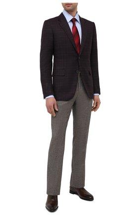 Мужские кожаные оксфорды BARRETT темно-коричневого цвета, арт. 211U026.6/BETIS CREAM   Фото 2