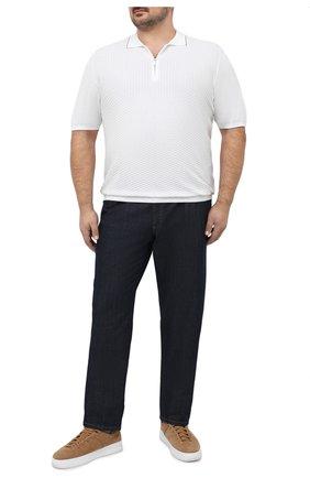 Мужское хлопковое поло SVEVO белого цвета, арт. 82158SE20L/MP0002 | Фото 2