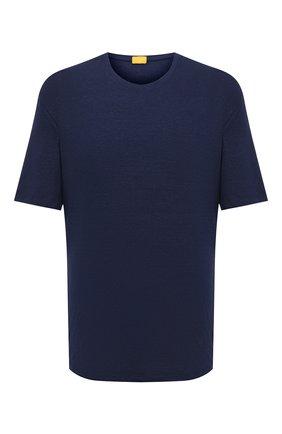 Мужская льняная футболка SVEVO синего цвета, арт. 4000SE20L/MTB4 | Фото 1