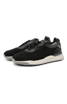 Мужские текстильные кроссовки SANTONI черного цвета, арт. MBI021455BGTCNITN50 | Фото 1