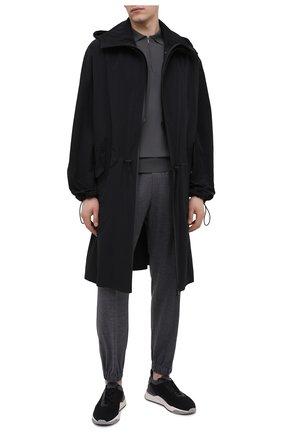 Мужские текстильные кроссовки SANTONI черного цвета, арт. MBI021455BGTCNITN50 | Фото 2