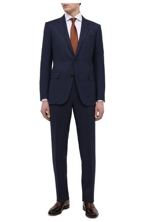 Мужские кожаные оксфорды SANTONI темно-коричневого цвета, арт. MCBN17158BB3XFULT50 | Фото 2 (Материал внутренний: Натуральная кожа; Стили: Классический)