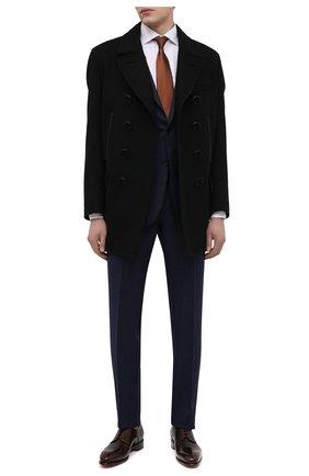 Мужские кожаные дерби SANTONI темно-коричневого цвета, арт. MCCR17030MC1HNGWT50 | Фото 2 (Материал внутренний: Натуральная кожа; Стили: Классический)