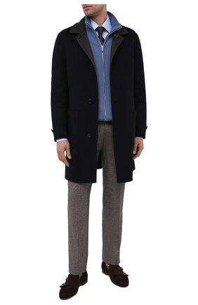Мужские замшевые лоферы SANTONI темно-коричневого цвета, арт. MCNC16848SA3SRVLT50 | Фото 2 (Мужское Кросс-КТ: Лоферы-обувь; Материал внутренний: Натуральная кожа; Стили: Кэжуэл; Материал внешний: Замша)