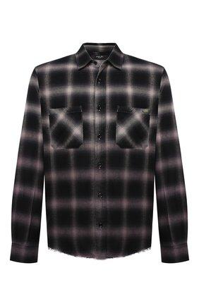Мужская рубашка из хлопка и вискозы AMIRI серого цвета, арт. MSL007-030   Фото 1