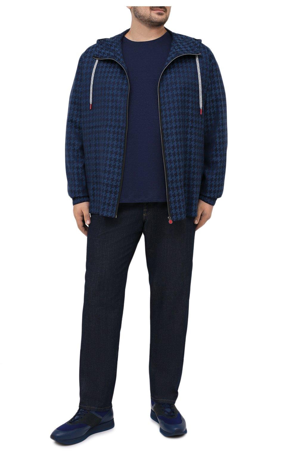 Мужской кашемировый кардиган KITON темно-синего цвета, арт. UMC001K06T0610 | Фото 2