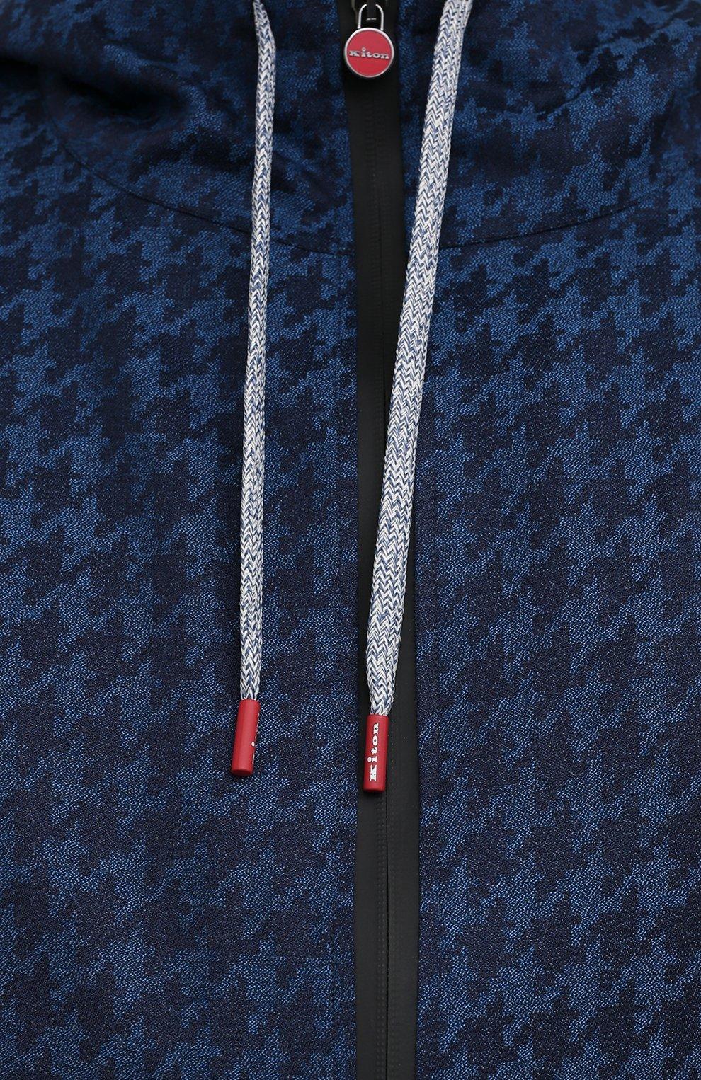 Мужской кашемировый кардиган KITON темно-синего цвета, арт. UMC001K06T0610 | Фото 5