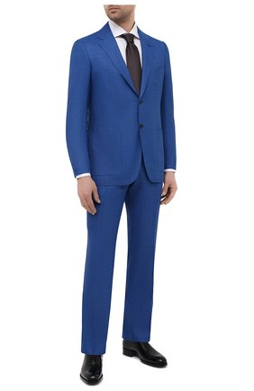 Мужской шерстяной костюм KITON синего цвета, арт. UA81K01X57 | Фото 1