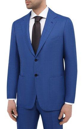 Мужской шерстяной костюм KITON синего цвета, арт. UA81K01X57 | Фото 2