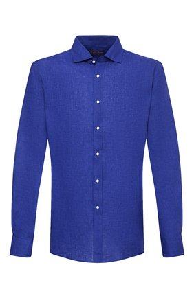 Мужская льняная рубашка RALPH LAUREN синего цвета, арт. 790826540 | Фото 1