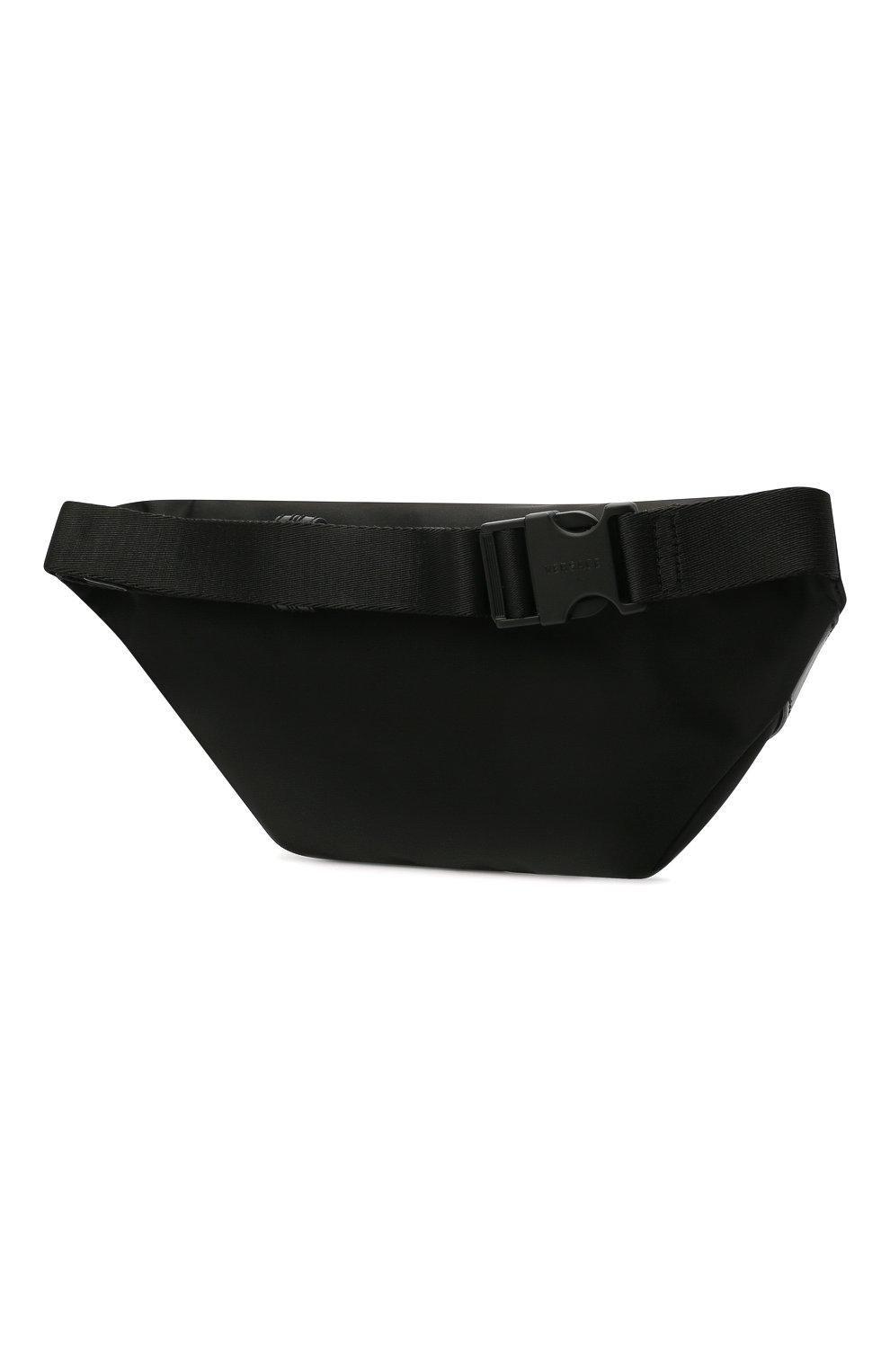 Мужская текстильная поясная сумка bondage VERSACE черного цвета, арт. DFB8429/DNY24   Фото 3 (Ремень/цепочка: На ремешке; Материал: Текстиль)