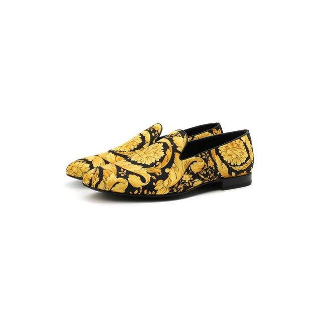 Текстильные лоферы Versace