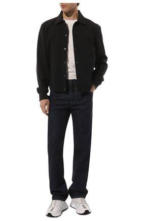 Мужские комбинированные кроссовки trigreca VERSACE белого цвета, арт. DSU8094/D18TCG | Фото 2 (Материал внешний: Текстиль; Материал внутренний: Текстиль; Стили: Гранж; Подошва: Массивная)