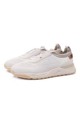 Мужские комбинированные кроссовки SANTONI белого цвета, арт. MBI021455BTTCNITI50 | Фото 1