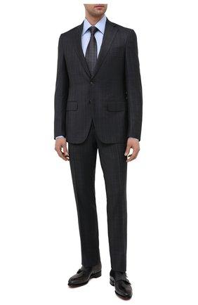 Мужские кожаные монки SANTONI темно-серого цвета, арт. MCCR11652MC1HNGWG60 | Фото 2 (Стили: Классический; Материал внутренний: Натуральная кожа)