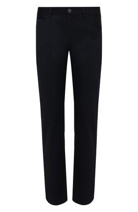 Мужские шерстяные брюки GIORGIO ARMANI темно-синего цвета, арт. 3KSJ15/SN68Z | Фото 1