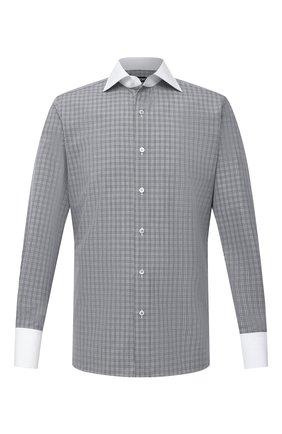 Мужская хлопковая сорочка TOM FORD черно-белого цвета, арт. 9FT130/94SWAX | Фото 1
