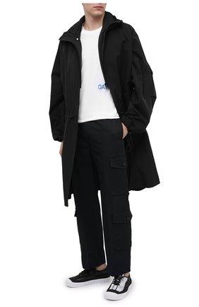 Мужские текстильные кеды STONE ISLAND черного цвета, арт. 7415S0179 | Фото 2