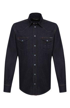 Мужская джинсовая рубашка DOLCE & GABBANA синего цвета, арт. G5EX7Z/G8DM7 | Фото 1